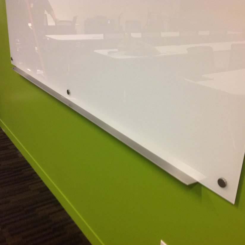 Painted Glassboard Edge With Tray