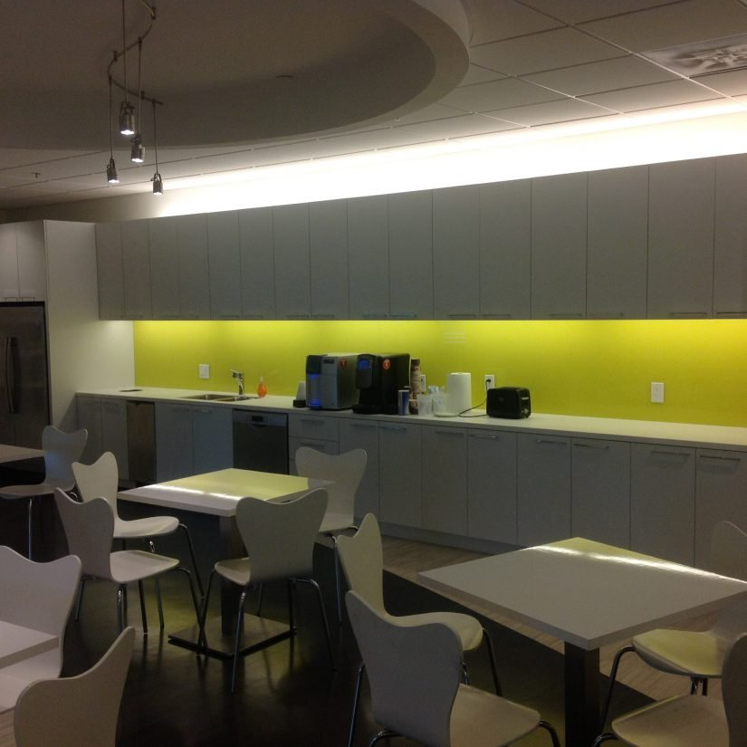 Painted Backlash Office Kitchen