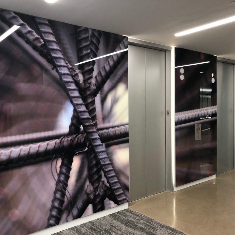 Rebar Old Castle Elevator Lobby